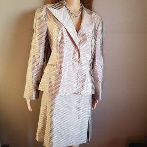 SIGNATURE by LARRY LEVINE Shimmery Dress Suit